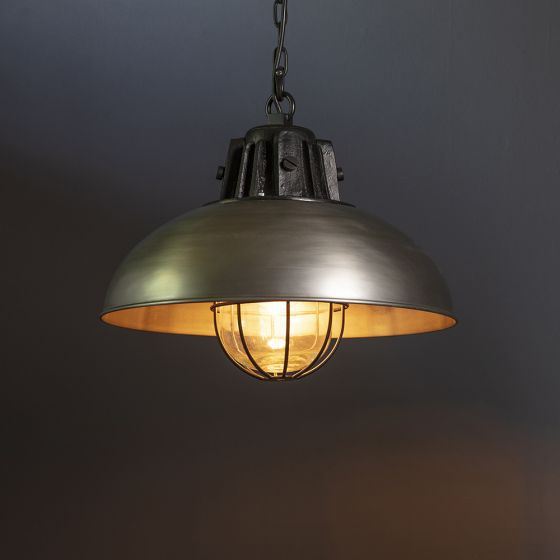 Whitby Pendant Light - Antique Zinc