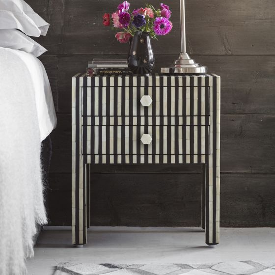 Amadeus Bone Inlay Bedside Drawers