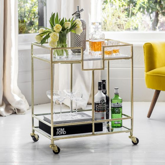 Gatsby Marble Drinks Trolley