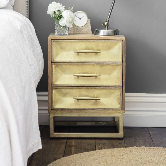 Pascali Brass Bedside Drawers