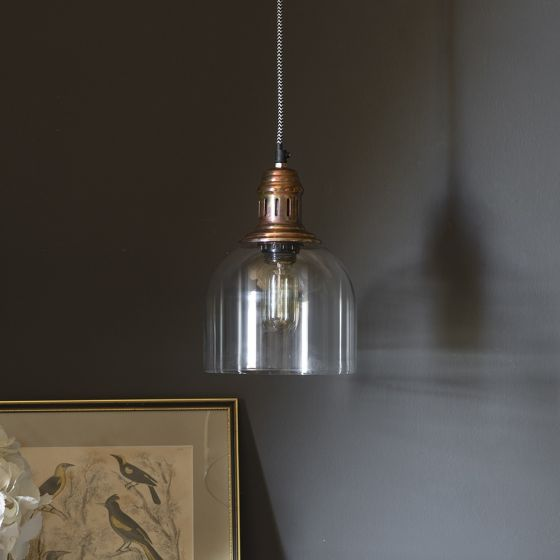 Whitechapel Ceiling Pendant in Burnished Copper