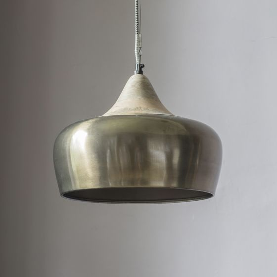 Alhambra Contemporary Ceiling Pendant in Zinc Gold