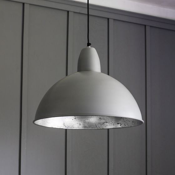 Contemporary Ceiling Pendant Light in Grey and Silver