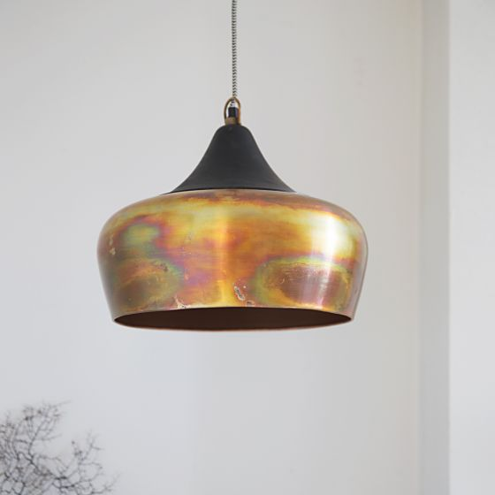Alhambra Contemporary Ceiling Pendant in Burnished Copper