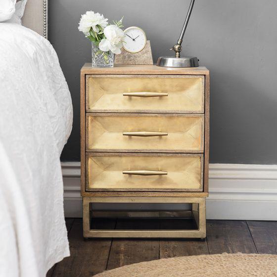 Pascali Brass Bedside Drawers