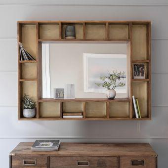 Pigeonhole Mirror Shelf