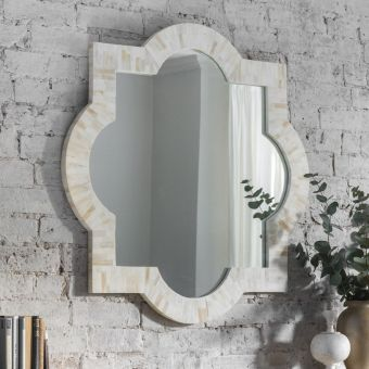 Hayworth Bone Inlay Mirror