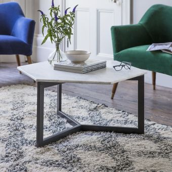 Aldwych Marble Coffee Table - Black