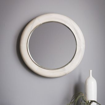 Bleached Round Wall Mirror