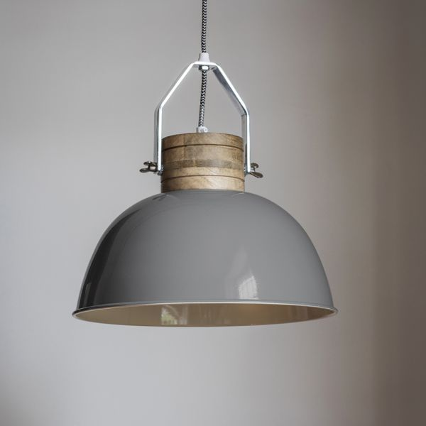 Portland Ceiling Pendant in Grey