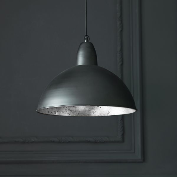 Contemporary Ceiling Pendant Light in Black and Silver