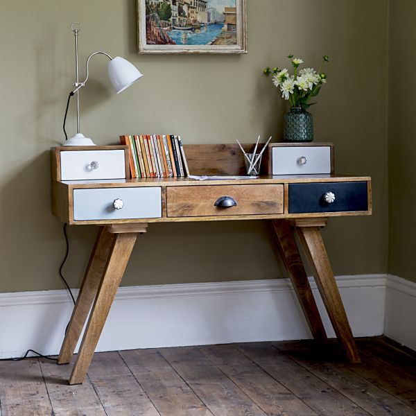 Milligan Retro Multi Drawer Desk