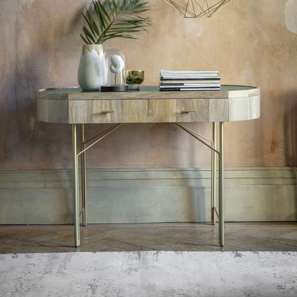 Jade Marble Console Desk