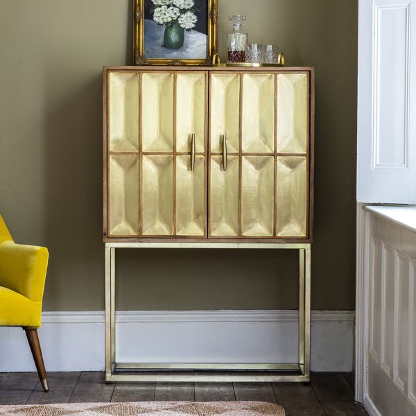 Pascali Brass Bar Cabinet