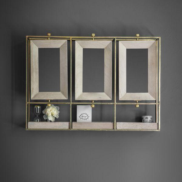 Troika Triple Mirror - Whitewash