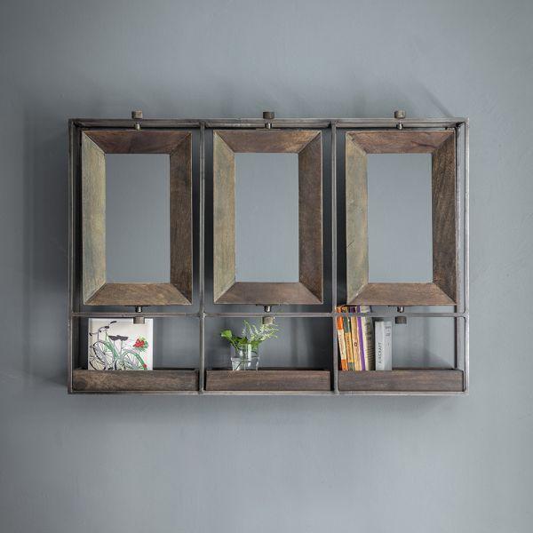 Troika Triple Mirror - Grey