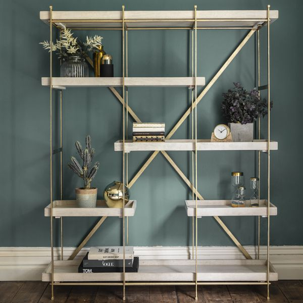 Harvey Shelving Unit - Whitewash