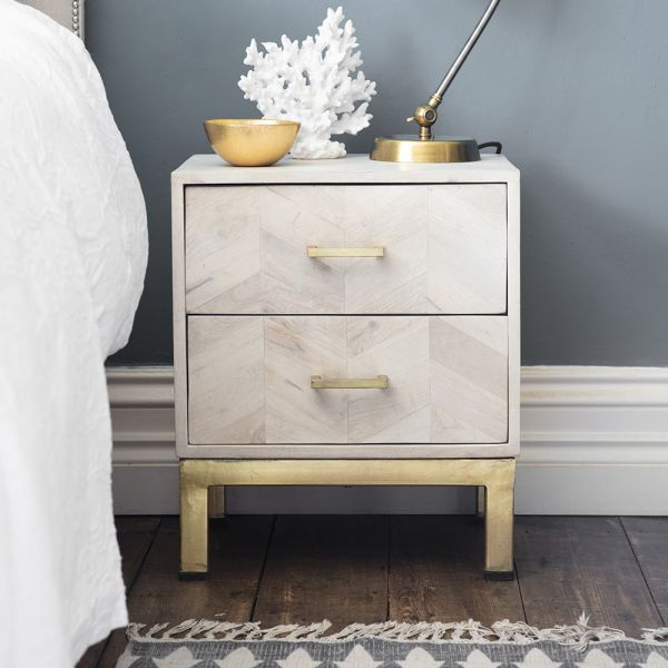 Chevron Bedside Drawers