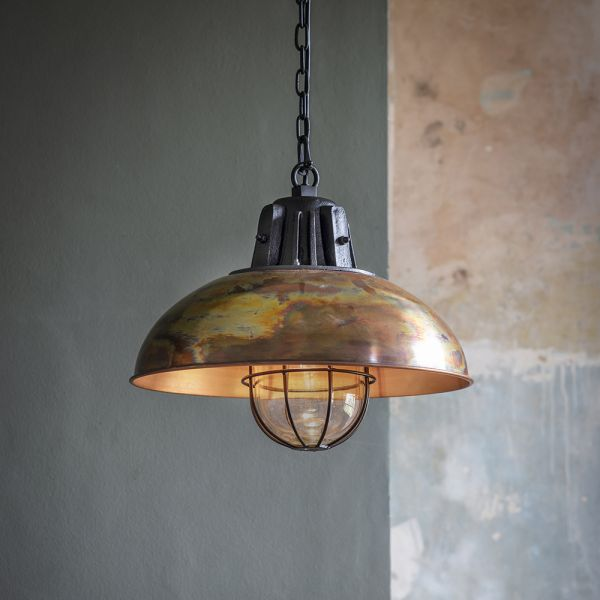 Whitby Pendant Light - Burnished Copper