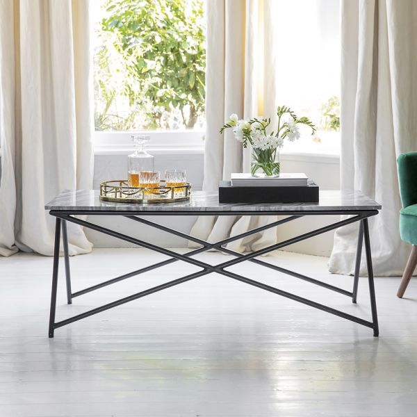 Stellar Grey Marble Coffee Table