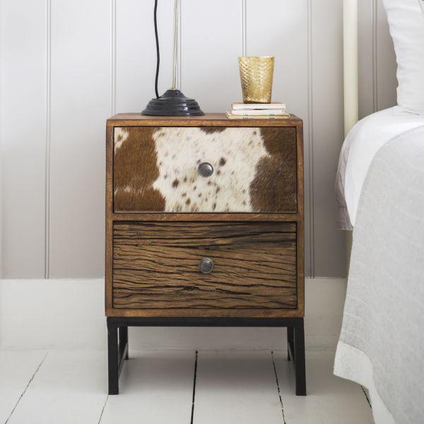 Montana 2 Drawer Bedside Cabinet