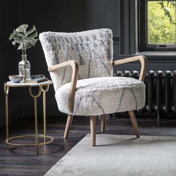 Calvin Armchair in Moroccan Printed Cotton