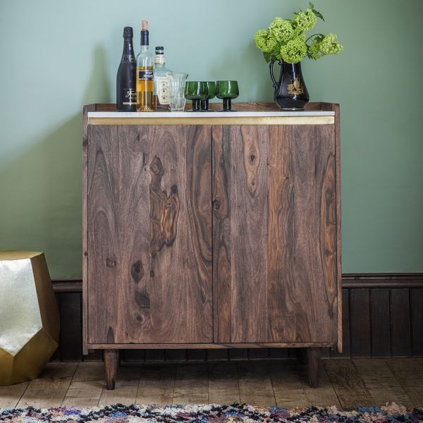 Deco Marble Drinks Cabinet