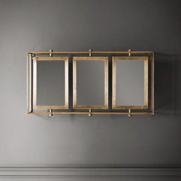 Tribeca Triple Wall Mirror in Brass