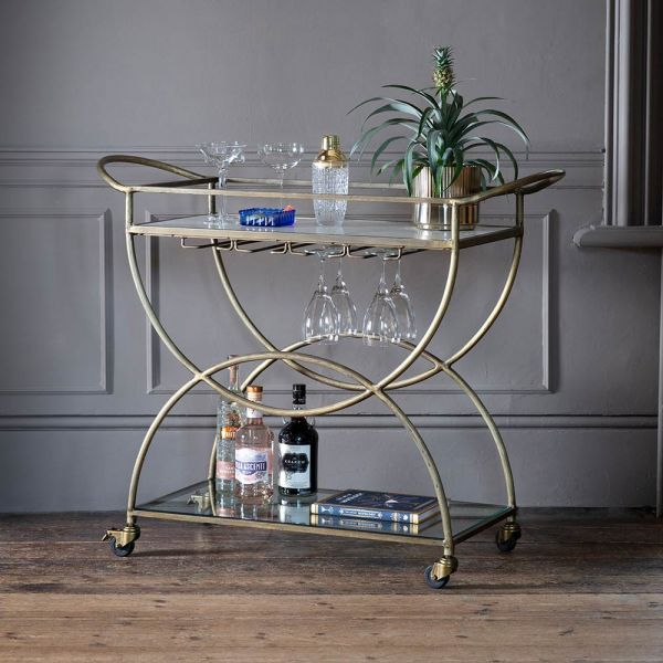 Cosmo Marble Drinks Trolley