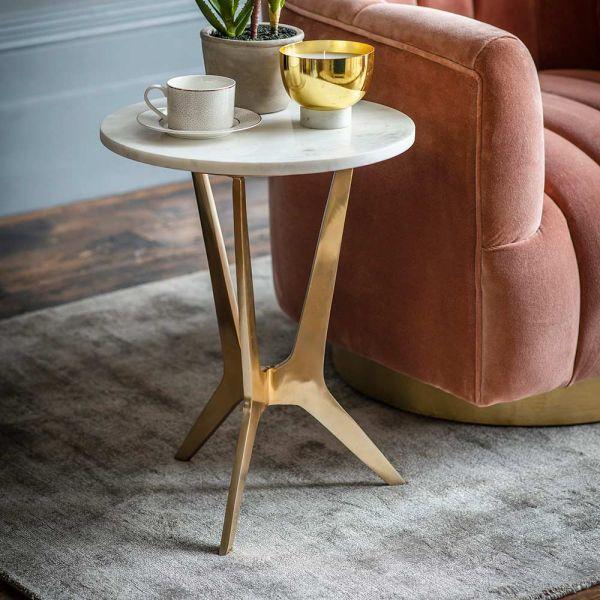 Arcadia Marble Side Table