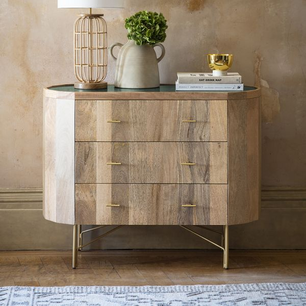 Jade Marble Chest of Drawers