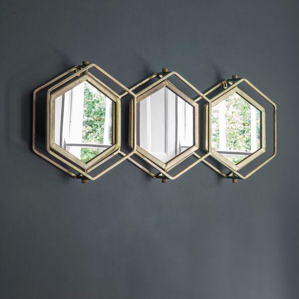Triple Hex Mirror