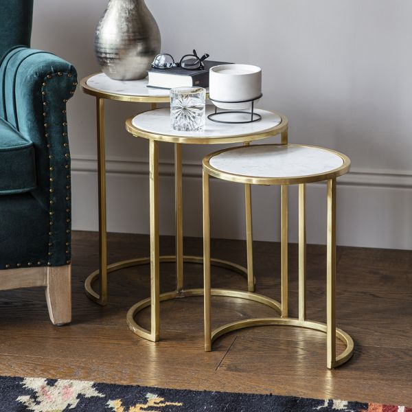 Alban Marble Nesting Side Tables