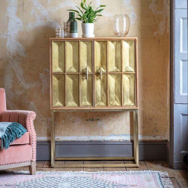 Pascali Brass Drinks Cabinet