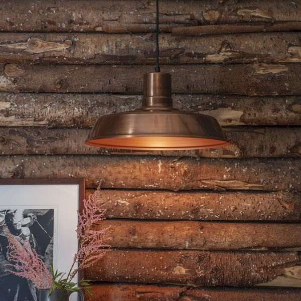 Dixie Pendant Light - Antique Copper