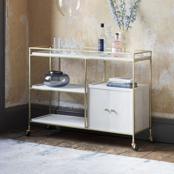 Chicago Drinks Trolley Console