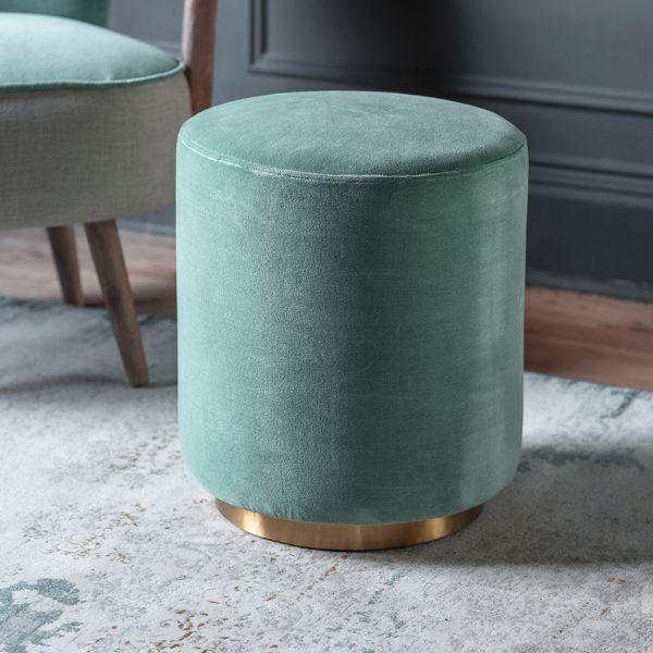 Carnaby Footstool in Mint Velvet