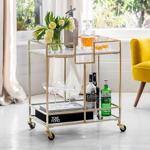 Gatsby Marble Drinks Trolley