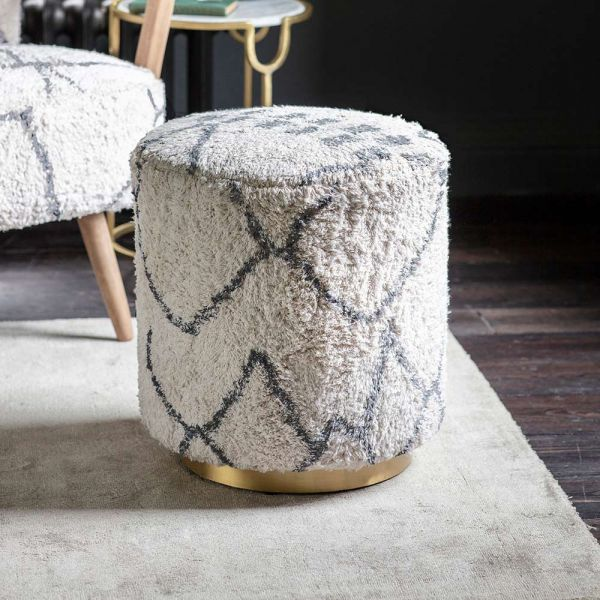 Carnaby Footstool in Moroccan Printed Cotton