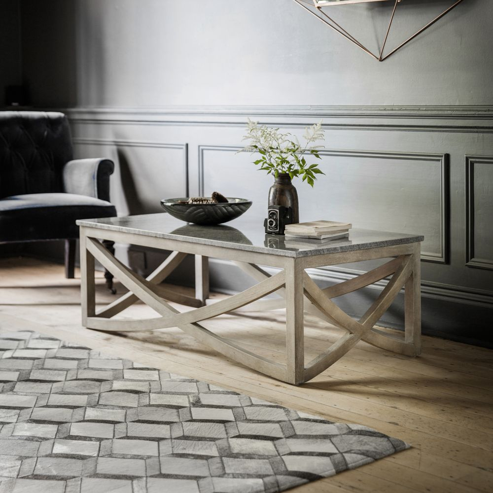 Lily Coffee Table With A Marble Natural Stone Top