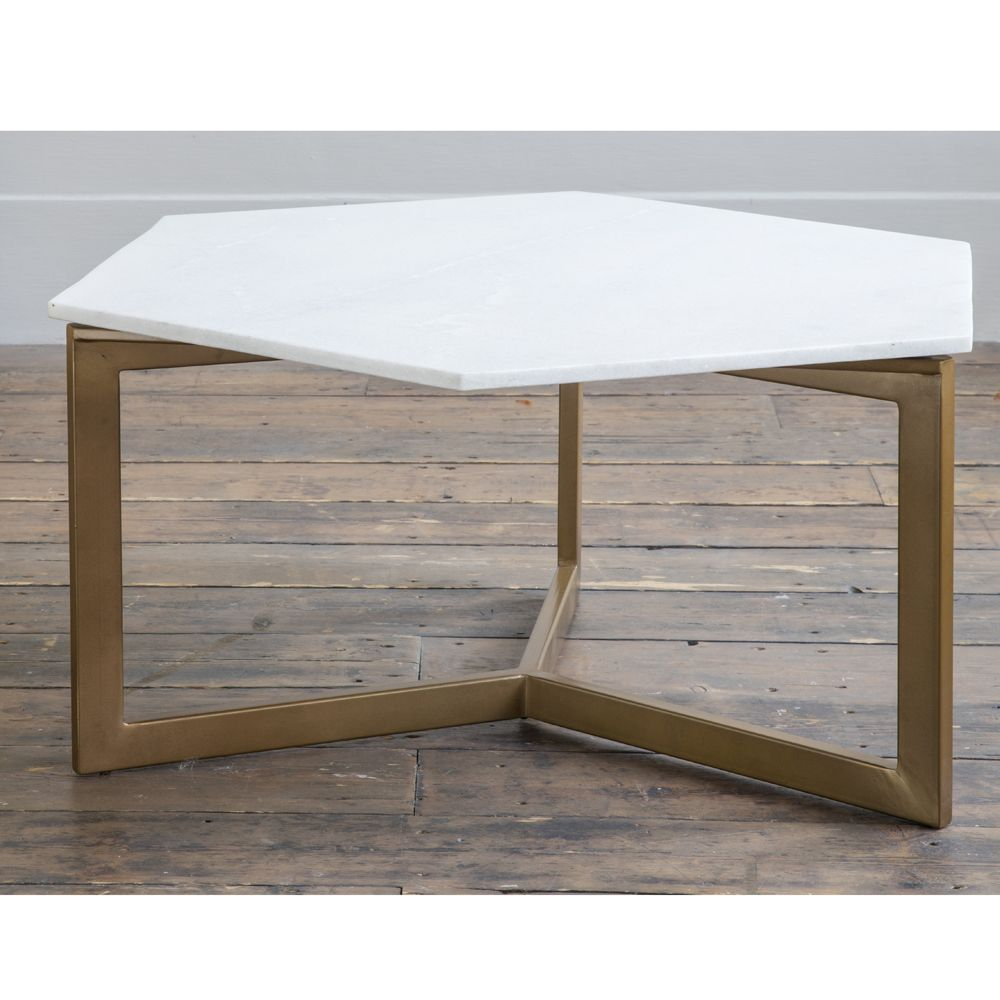 Marble Coffee Table Ireland: Aldwych Marble Coffee Table - Gold