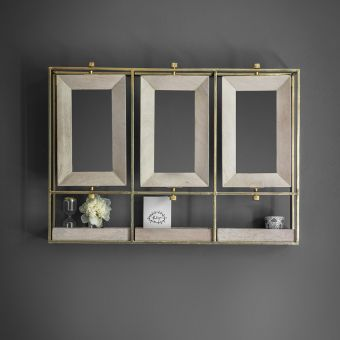 Troika Triple Mirror - Whitewash