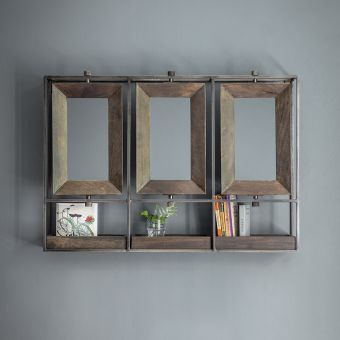 Troika Triple Mirror - Black