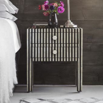 Amadeus Bone Inlay Bedside Drawers
