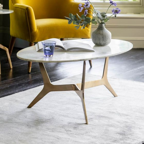 Cameo Marble Coffee Table