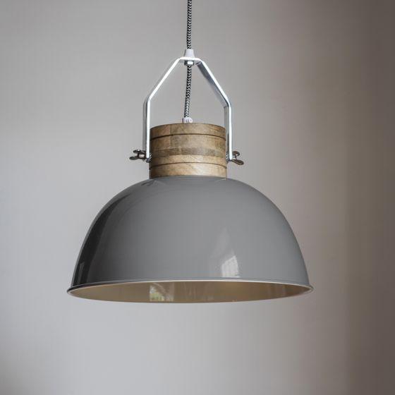 Portland Ceiling Pendant in Grey
