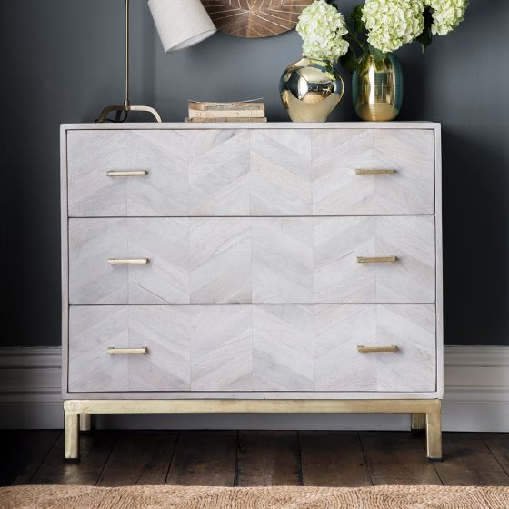 Chevron Chest of Drawers