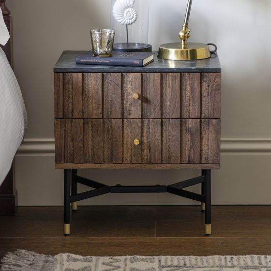 Berkeley Marble Bedside Drawers