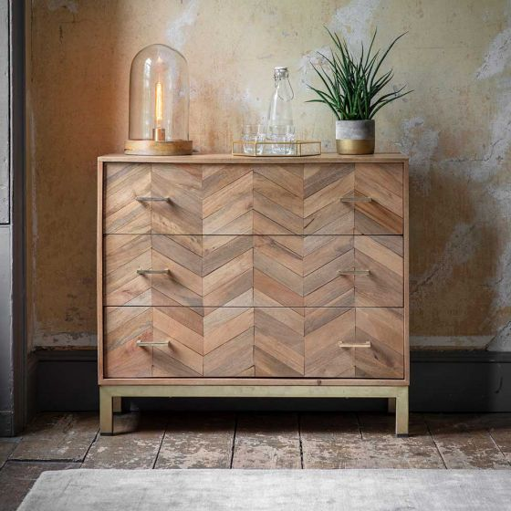 Chevron Chest of Drawers - Natural