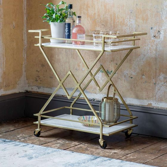 Fontaine Marble Drinks Trolley